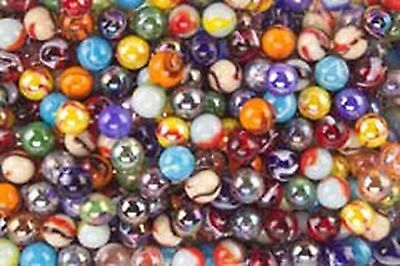 "Mega Marbles SET OF 48 ASSORTED BULK - 5/8"" PLAYER MARBLES Free Shipping, New"