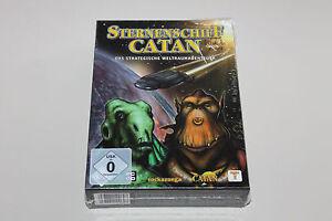 STERNENSCHIFF Catan PC im Originalkarton + AUTOGRAMM Klaus Teuber 2003 NEU + RAR