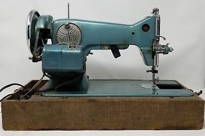 Rare Blue Vintage Antique Singer Model 20 Coronet Rotary Electric Syncro Matic