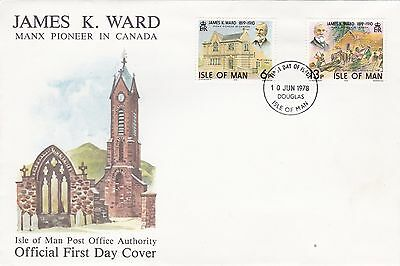 Isle Of Man 1978 James k Ward  FDC Unadressed Mint Condition