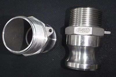 Stainless Steel Cam Lock Adapter 1 14 Male - 1 14 Npt Male Nipple Cl24-125