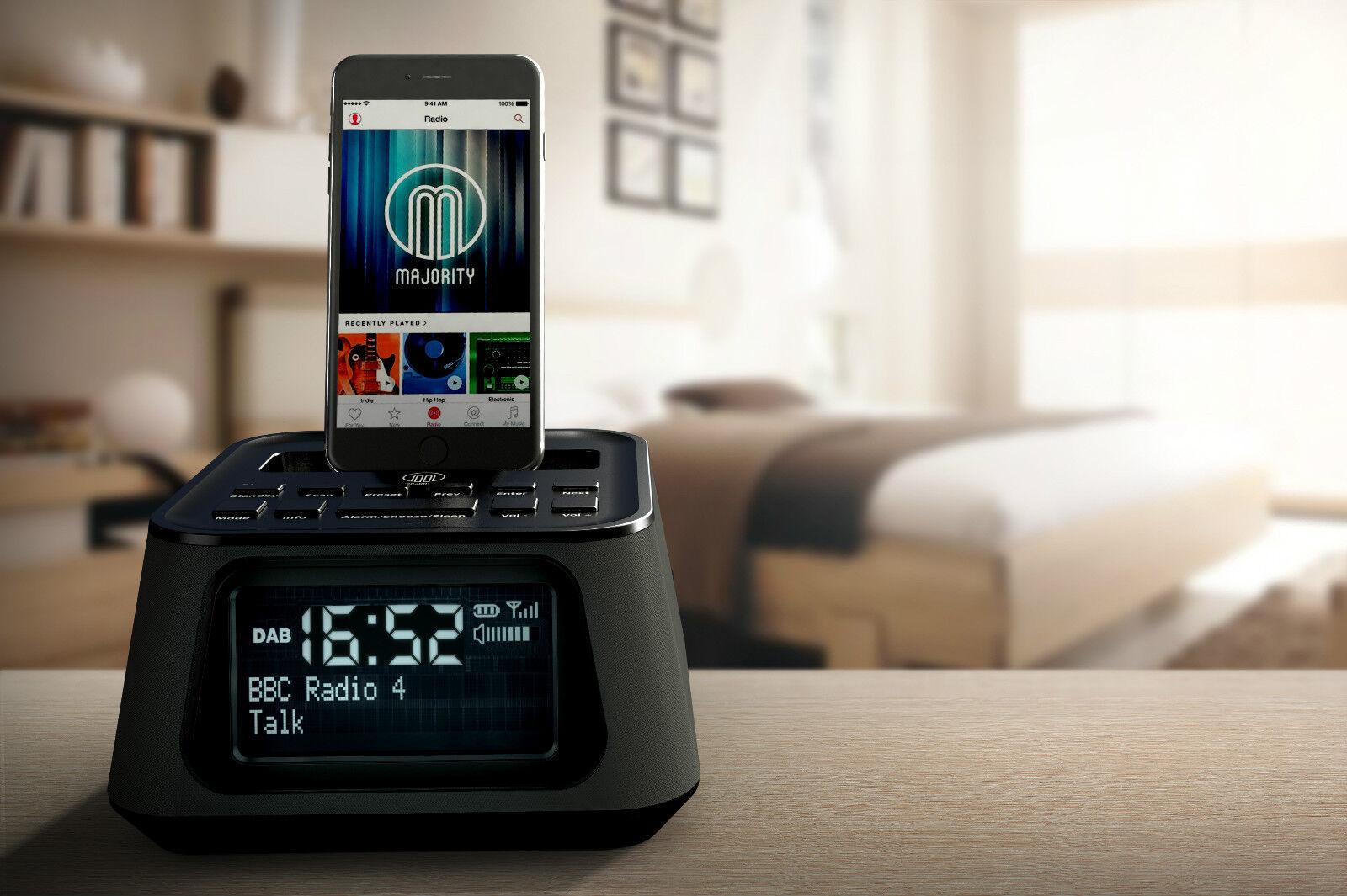 madingley rise dab radio docking station speaker dock alarm iphone 5 5s 5c 6. Black Bedroom Furniture Sets. Home Design Ideas