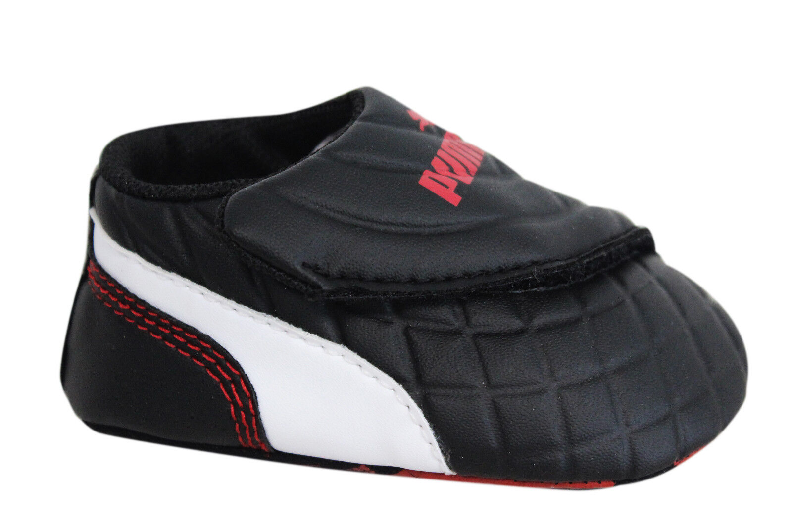 Puma Drift Cat 6 LW Crib Soft Sole Black Synthetic Baby Trainers 305184 01 EE9