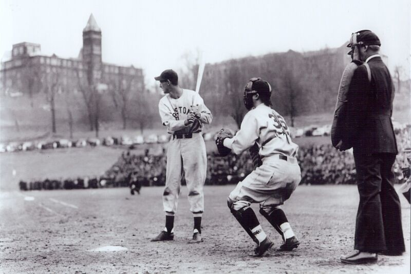 Boston Red Sox's  Ted Williams 8x10  outstanding B/W  batting photo