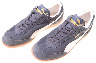 PUMA Mens LIGA Suede Trainers Size 8 Navy Blue Leather  C212