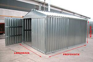Box lamiera rimessa auto casetta porta attrezzi in acciaio for Box lamiera prezzi