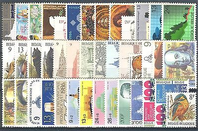 BE - BELGIUM 1986 complete year set MNH