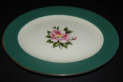 Homer Laughlin Century Service Empire Green Oval Serving Platter Alliance Ohio