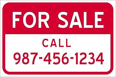 18 X 12 For Sale - Aluminum Sign Metal - Heavy Duty