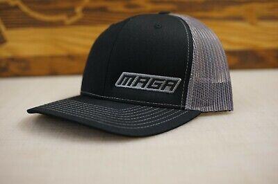 5ceb11abf1b87 MAGA Hat Snapback Trucker hat Black Gray - Richardson 112 Cap