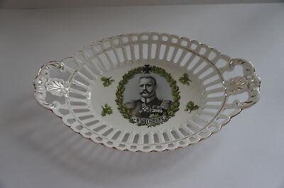 Antike Porzellan Schale Hindenburg durchbrochen