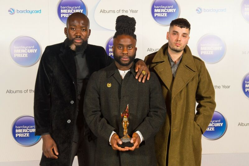 Young Fathers at last night's event in Camden, London. Pic: Dominic Lipinski/PA Wire