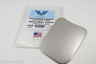 Dental Orthodontic Mirror Reflector Photographic Stainless Steel Occusal Child