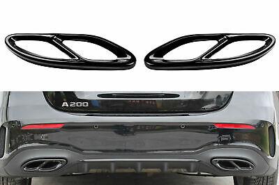 2 x schwarze Auspuffblenden Abdeckung für Mercedes E-Klasse W212 S212   AB_10