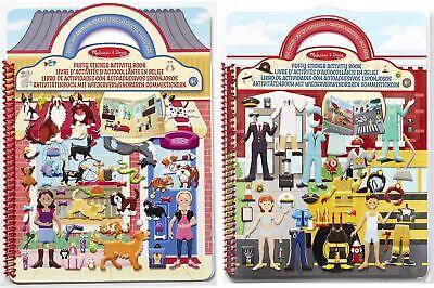 Melissa & Doug PUFFY STICKER ACTIVITY BUCH Kinder Kunst Basteln Geschenk - Sticker Buch Kostüm