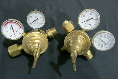 Set Of Victor Vts710 Vts700 Manifold Regulators Oxygen And Acetylene. High Flow.