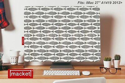 "Screen Cover Dust Jacket - Apple iMac Desktop 27"" - MACKET - Mackerel SKY Grey"