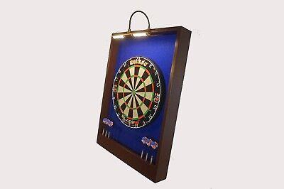led lighted dart board backboard w winmau