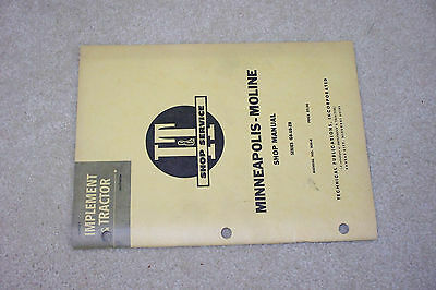 It Shop Service Manual Minneapolis-moline Gb-ub-zb
