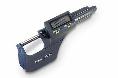 Electronic Digital Micrometer 0-1 0-25 Mm Sae Metric .00005 Resolution Taytoo