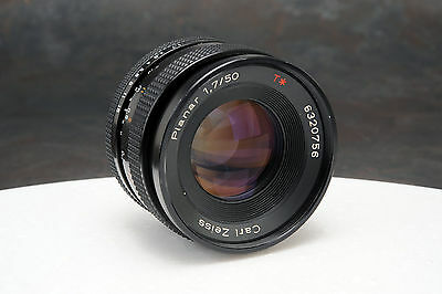 - Contax Carl Zeiss Planar 50mm f1.7 T* Contax/Yashica (av)