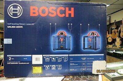 Bosch Grl800-20hvk Self-leveling 800ft Rotary Laser Kit New