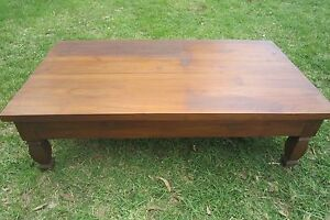 LARGE WOODEN COFFEE TABLE Quaama Bega Valley Preview