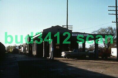 MILW Milwaukee Road DEPOT at New Lisbon WI 1971 DUPLICATE Slide! Milwaukee Road Depot