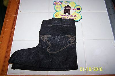 Dog Costume BLACK Sheriff Western Halloween Puppy Cat Cowgirl Cowboy BOOTS  M/L - Halloween Costume Cowgirl Boots