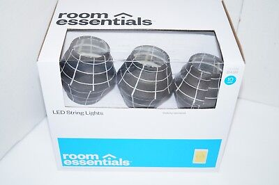 ROOM ESSENTIALS STRING LIGHTS BLACK BATTERY OPERATED NEW (Battery Operated Black Lights)