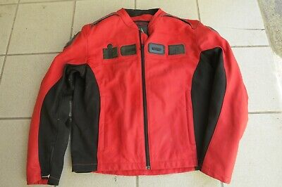 icon accelerant leather jacket red black XXL motorcycle