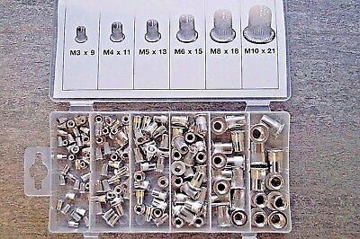 150 x Alu Blindnietmutter M3 - M10 Nietmutter Gewindeniete Nietmuttern Gewinde