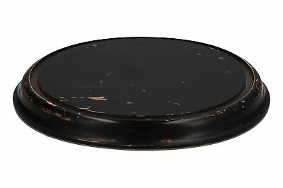 An old wooden stand for a glass dome Black painted