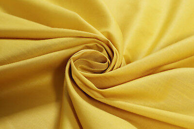 Yellow Color Solid Best Cotton Fabric Broadcloth For Sewing Quilting Shirt By