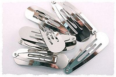 100 x 50mm Snap Hair Clips Hair Pin Clip Slides Bows Blanks Teardrop