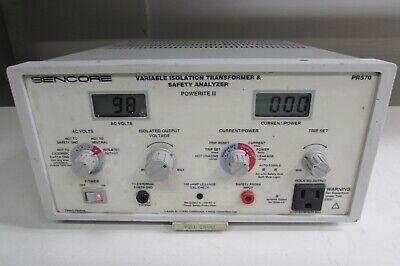 Sencore Pr570 Variable Isolation Transformer  Safety Analyzer