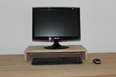 Monitorerhöhung Bildschirmerhöhung Podest TV Aufsatz  Buche massiv 60x30x10cm