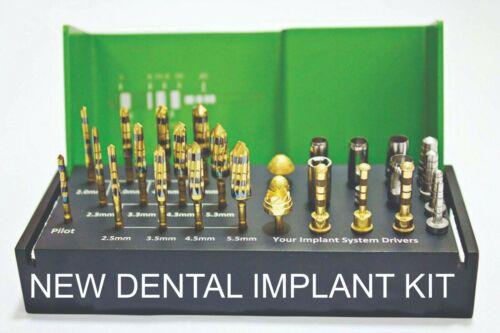 29pcs Implantology Burs Kit, Dental Implant Osteotomy Preparation Guide Kit USA
