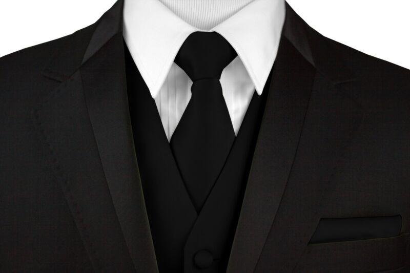 Cruise Tie and Hankie Set Men/'s Formal Satin Tuxedo Vest Prom Wedding Dress