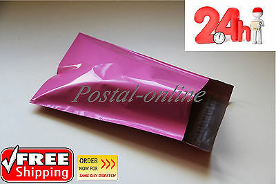 100 x PINK Plastic Mailing Bags 250 x 350 mm 10 x 14 10x14  250x350
