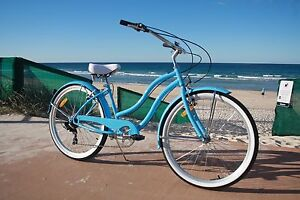 Brand New GC BIKES Ladies Beach Cruisers 7 Speed Shimano gears Miami Gold Coast South Preview