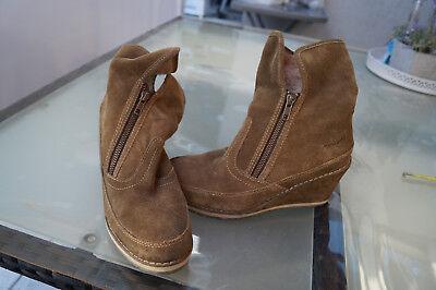 TAMARIS Damen Winter Schuhe Keil Stiefel Stiefeletten Boots Gr.39 wildleder TOP