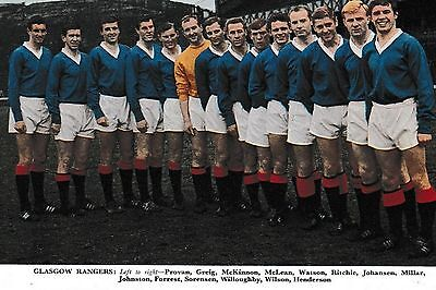 RANGERS FOOTBALL TEAM PHOTO 1965-66 SEASON