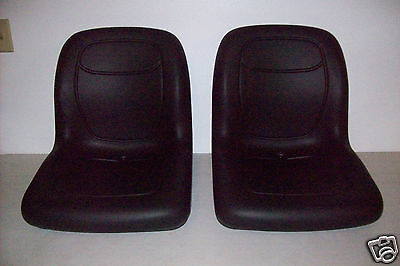 TWO (2) BLACK HIGH BACK SEATS for JOHN DEERE GATOR,SNAPPER,TORO TWISTER,CLUB #GI