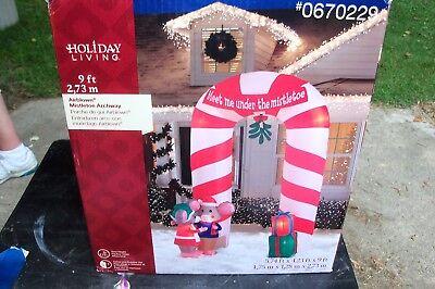 MISTLETOE ARCHWAY 9 FT TALL CHRISTMAS AIRBLOWN  INFLATABLE YARD DECOR  - Christmas Archway Decoration