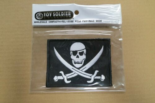 """TOY SOLDIER 1/1 Scale Replica Jolly Roger Patch (4""""x3"""") NEW"""