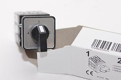 4-Stufen Schalter von BACO Typ 223525 ohne 0-Stellung, 3 x 90°, 1-polig
