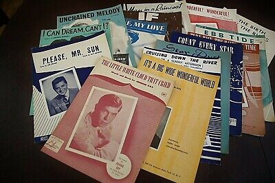 Vintage sheet music, popular music – set of 16, mostly '40s and -