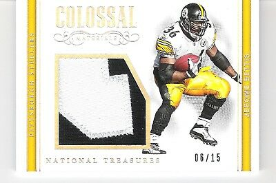 9f3f369a Jerome Bettis 2017 Panini National Treasures Colossal Silver 2-Color Patch  6/15
