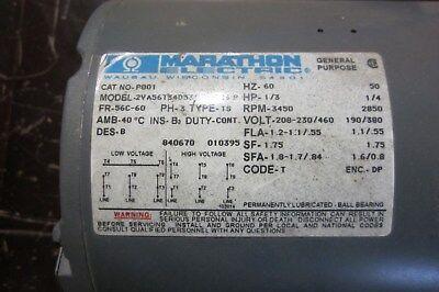 Marathon electric motor model# 2VA56T34D5310B-R26 P